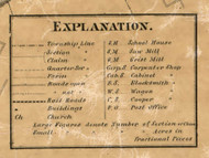 Map Key, Wayne County, Michigan 1860 Old Town Map Custom Print - Wayne Co.