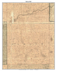 Berlin, Michigan 1861 Old Town Map Custom Print - Ionia Co.