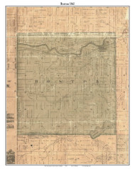 Boston, Michigan 1861 Old Town Map Custom Print - Ionia Co.