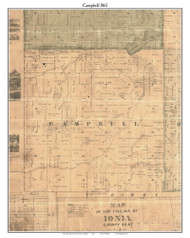 Campbell, Michigan 1861 Old Town Map Custom Print - Ionia Co.
