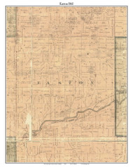 Easton, Michigan 1861 Old Town Map Custom Print - Ionia Co.