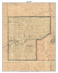 Ionia, Michigan 1861 Old Town Map Custom Print - Ionia Co.