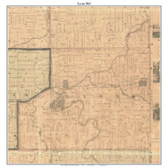 Lyons, Michigan 1861 Old Town Map Custom Print - Ionia Co.