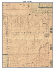North Plains, Michigan 1861 Old Town Map Custom Print - Ionia Co.