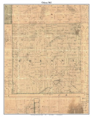 Odessa, Michigan 1861 Old Town Map Custom Print - Ionia Co.