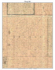 Orange, Michigan 1861 Old Town Map Custom Print - Ionia Co.