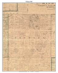 Orleans, Michigan 1861 Old Town Map Custom Print - Ionia Co.