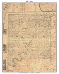 Otisco, Michigan 1861 Old Town Map Custom Print - Ionia Co.