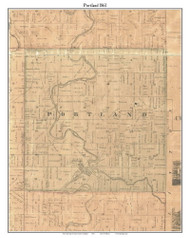 Portland, Michigan 1861 Old Town Map Custom Print - Ionia Co.