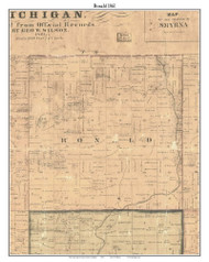 Ronald, Michigan 1861 Old Town Map Custom Print - Ionia Co.