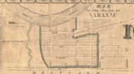 Sarnac, Michigan 1861 Old Town Map Custom Print - Ionia Co.