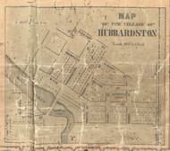 Hubbardston, Michigan 1861 Old Town Map Custom Print - Ionia Co.