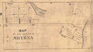 Smyrna, Michigan 1861 Old Town Map Custom Print - Ionia Co.