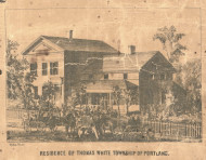 Residence of Thomas White, Michigan 1861 Old Town Map Custom Print - Ionia Co.