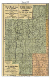 Graham, Indiana 1900 Old Town Map Custom Print - Jefferson Co.