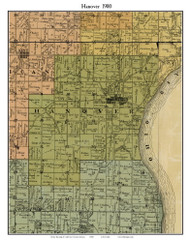 Hanover, Indiana 1900 Old Town Map Custom Print - Jefferson Co.