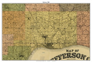 Madison, Indiana 1900 Old Town Map Custom Print - Jefferson Co.