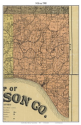 Milton, Indiana 1900 Old Town Map Custom Print - Jefferson Co.
