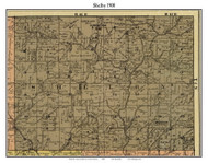 Shelby, Indiana 1900 Old Town Map Custom Print - Jefferson Co.