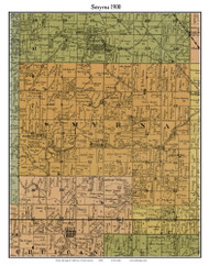 Smyrna, Indiana 1900 Old Town Map Custom Print - Jefferson Co.