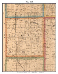 Cass, Indiana 1862 Old Town Map Custom Print - Laporte Co.