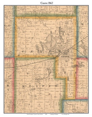 Centre, Indiana 1862 Old Town Map Custom Print - Laporte Co.