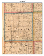 Clinton, Indiana 1862 Old Town Map Custom Print - Laporte Co.