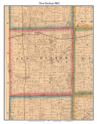 New Durham, Indiana 1862 Old Town Map Custom Print - Laporte Co.