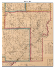 Pleasant, Indiana 1862 Old Town Map Custom Print - Laporte Co.
