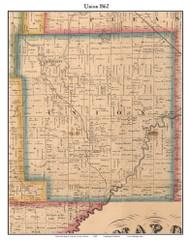 Union, Indiana 1862 Old Town Map Custom Print - Laporte Co.