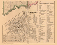 Laporte Village, Centre, Indiana 1862 Old Town Map Custom Print - Laporte Co.