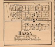 Hanna Village, Hanna, Indiana 1862 Old Town Map Custom Print - Laporte Co.