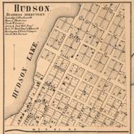 Hudson Village, Hudson, Indiana 1862 Old Town Map Custom Print - Laporte Co.