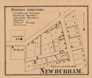 New Durham Village, New Durham, Indiana 1862 Old Town Map Custom Print - Laporte Co.