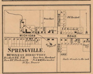 Springville Village, Springfield, Indiana 1862 Old Town Map Custom Print - Laporte Co.