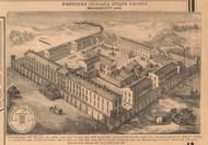 Northern Indiana State Prison, Michigan City, Michigan, Indiana 1862 Old Town Map Custom Print - Laporte Co.