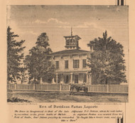 Patton Residence, Laporte Village, Centre, Indiana 1862 Old Town Map Custom Print - Laporte Co.