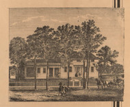 Unnamed Residence, Not Determined, Indiana 1862 Old Town Map Custom Print - Laporte Co.