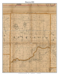 Henrietta, Michigan 1858 Old Town Map Custom Print - Jackson Co.