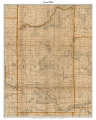 Leoni, Michigan 1858 Old Town Map Custom Print - Jackson Co.