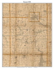 Summit, Michigan 1858 Old Town Map Custom Print - Jackson Co.