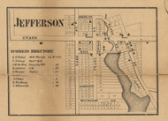 Jefferson, Michigan 1858 Old Town Map Custom Print - Jackson Co.