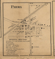 Parma Village, Michigan 1858 Old Town Map Custom Print - Jackson Co.