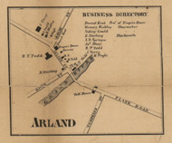 Arland, Michigan 1858 Old Town Map Custom Print - Jackson Co.