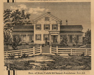 Residence of Caleb M. Chapel, Michigan 1858 Old Town Map Custom Print - Jackson Co.