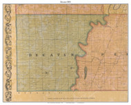 Decatur, Indiana 1855 Old Town Map Custom Print - Marion Co.