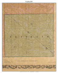 Franklin, Indiana 1855 Old Town Map Custom Print - Marion Co.
