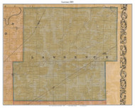 Lawrence, Indiana 1855 Old Town Map Custom Print - Marion Co.