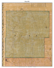 Pike, Indiana 1855 Old Town Map Custom Print - Marion Co.