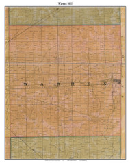 Warren, Indiana 1855 Old Town Map Custom Print - Marion Co.